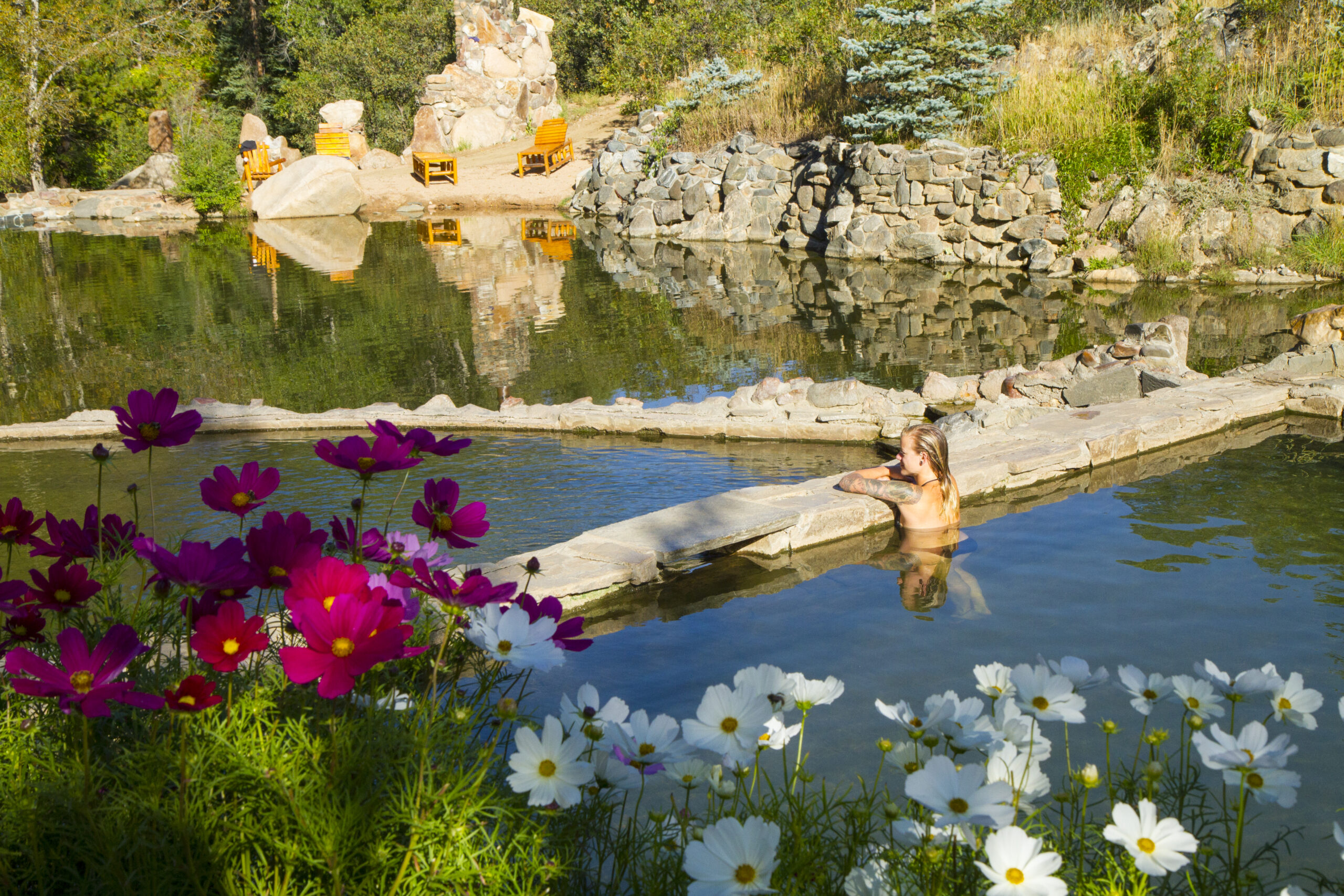 Strawberry Park Hot Springs in Steamboat Springs Photo Credit: Steamboat Springs Chamber / N WETZEL