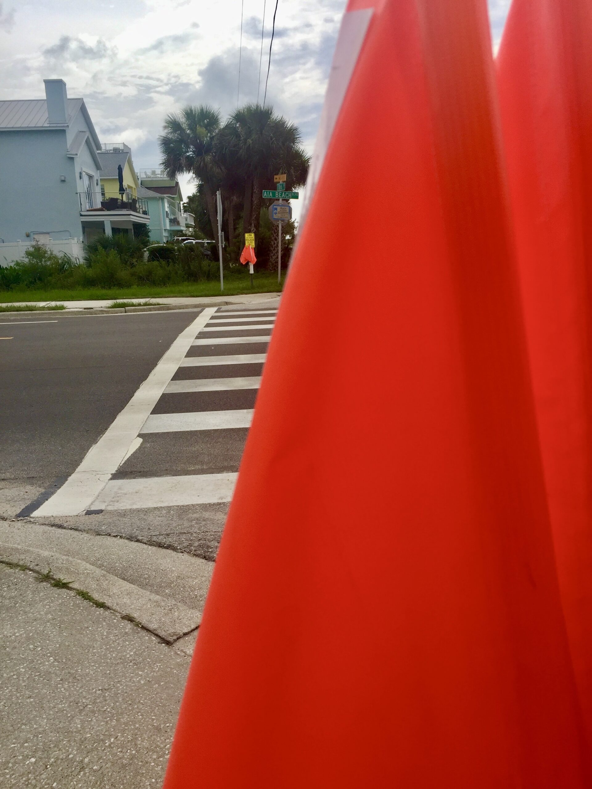St. Augustine beaches add flags to intersections.