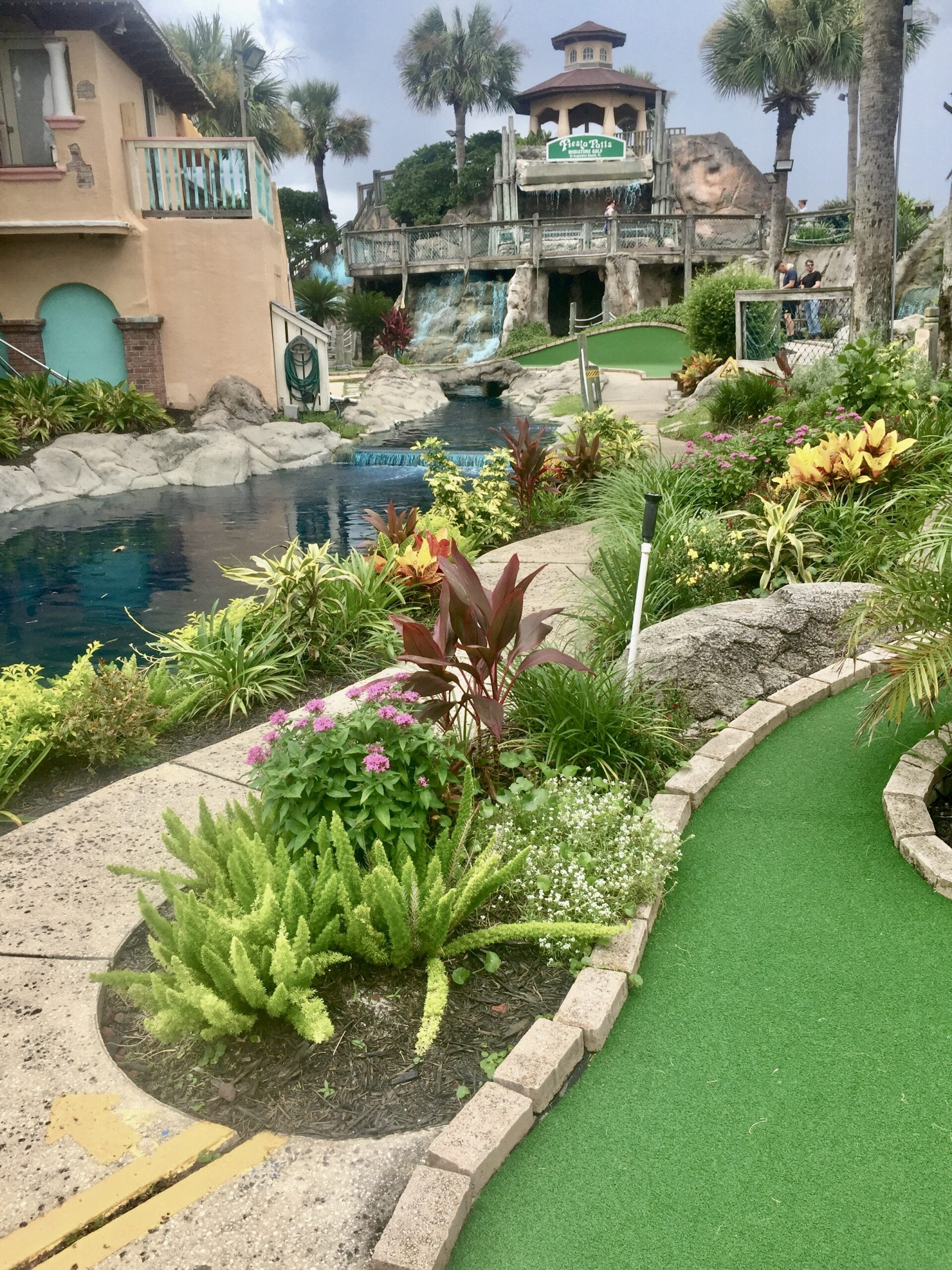 St. Augustine beaches provide mini golf diversion, with challenges.