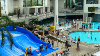 Overlooking the indoor waterpark portion of SoundWaves at Gaylord Opryland