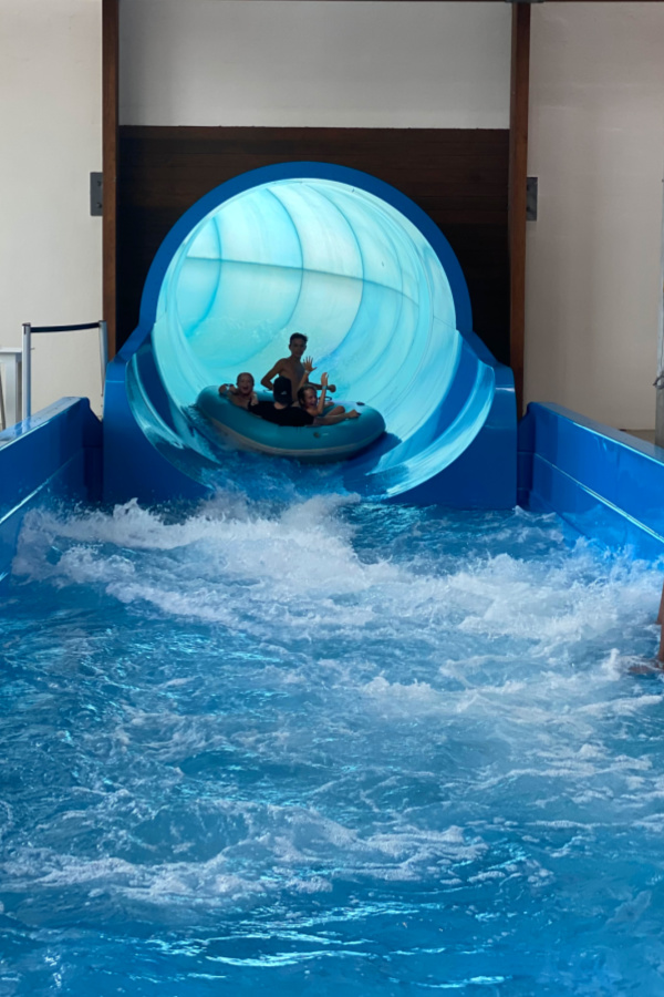 The Rapid Remix Family raft water slide at Gaylord Opryland's SoundWaves water park