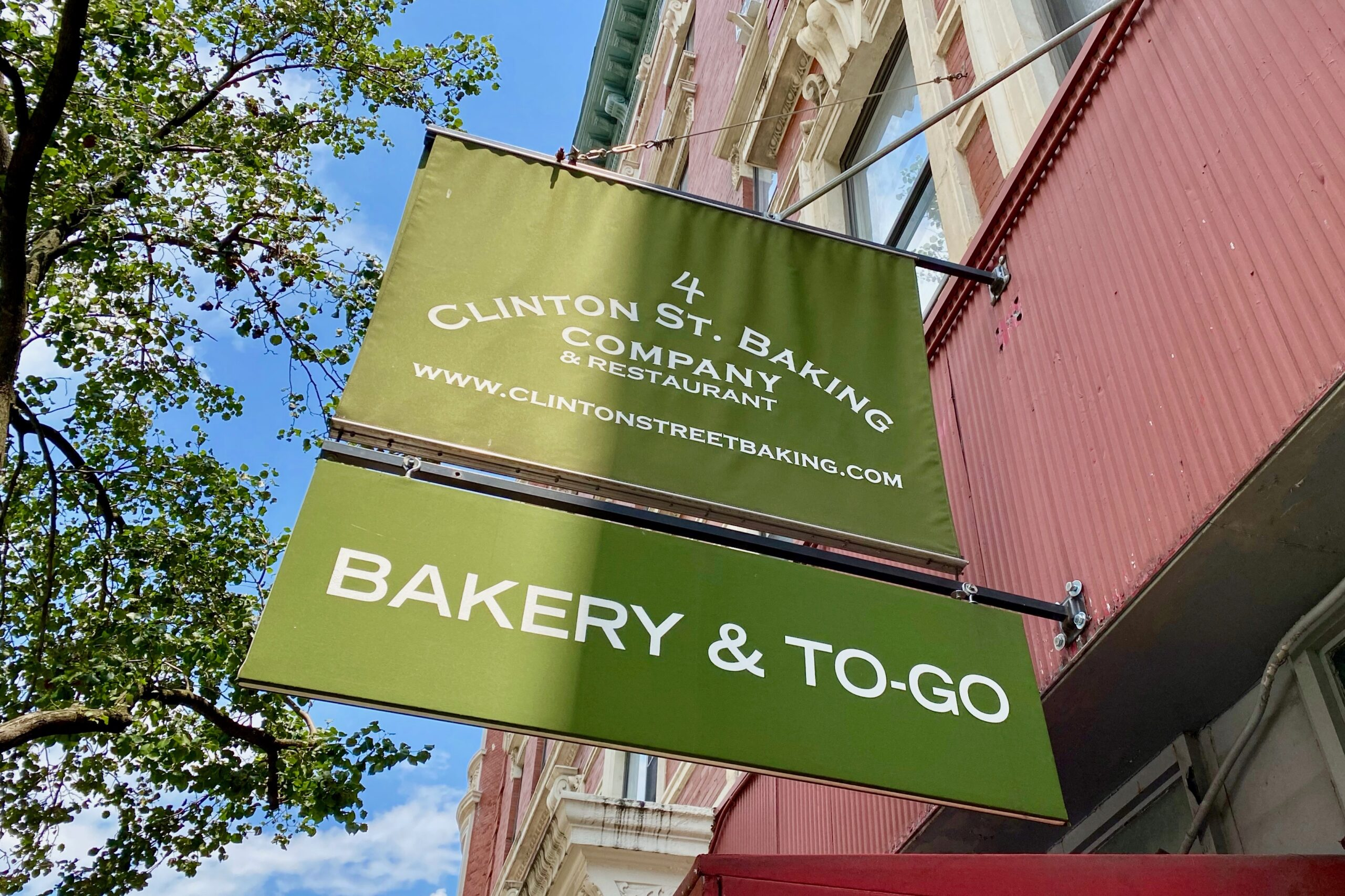 clinton street baking company sign in nyc