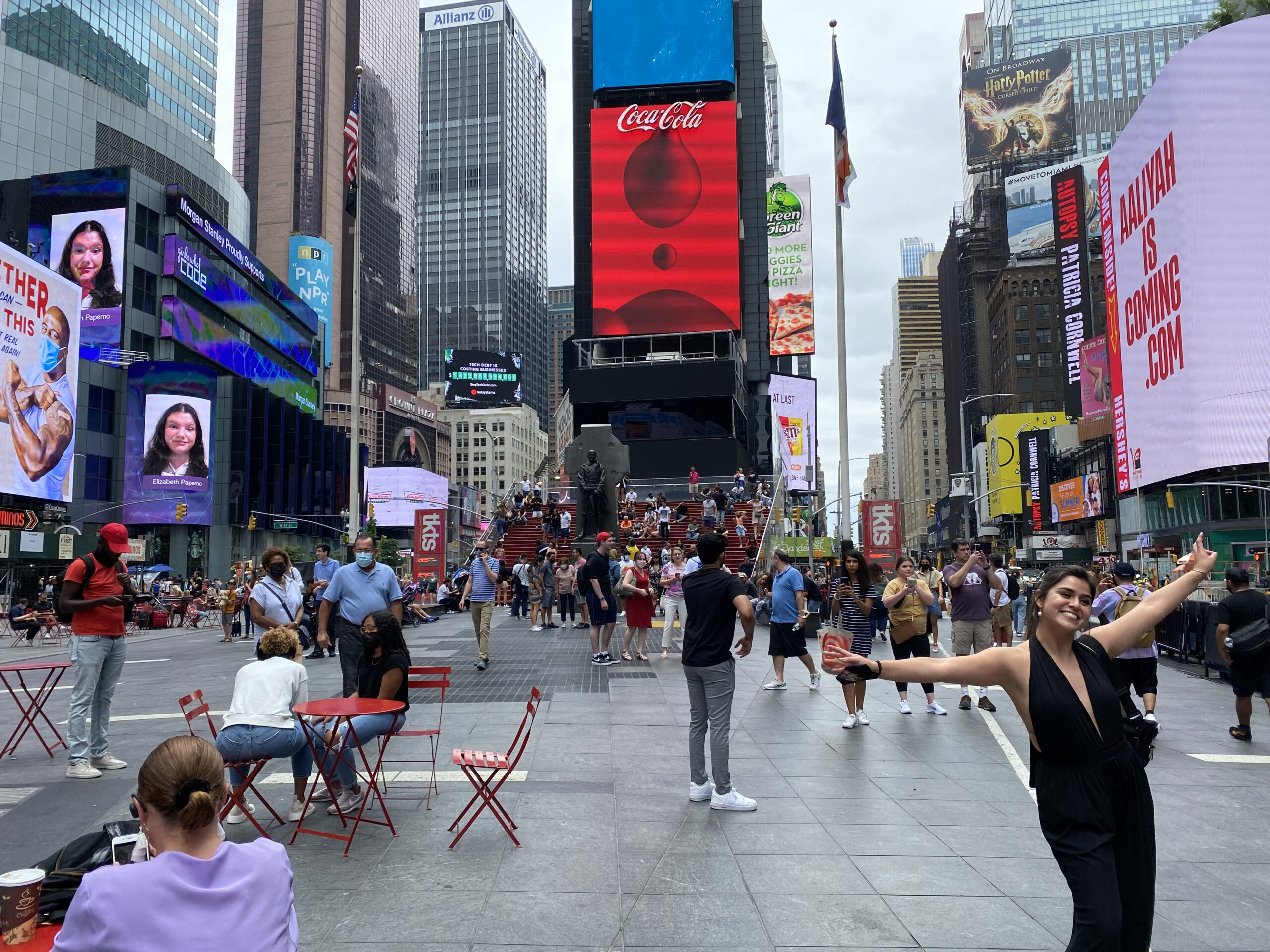 Pedestrian plaza on Broadway in Times Square.