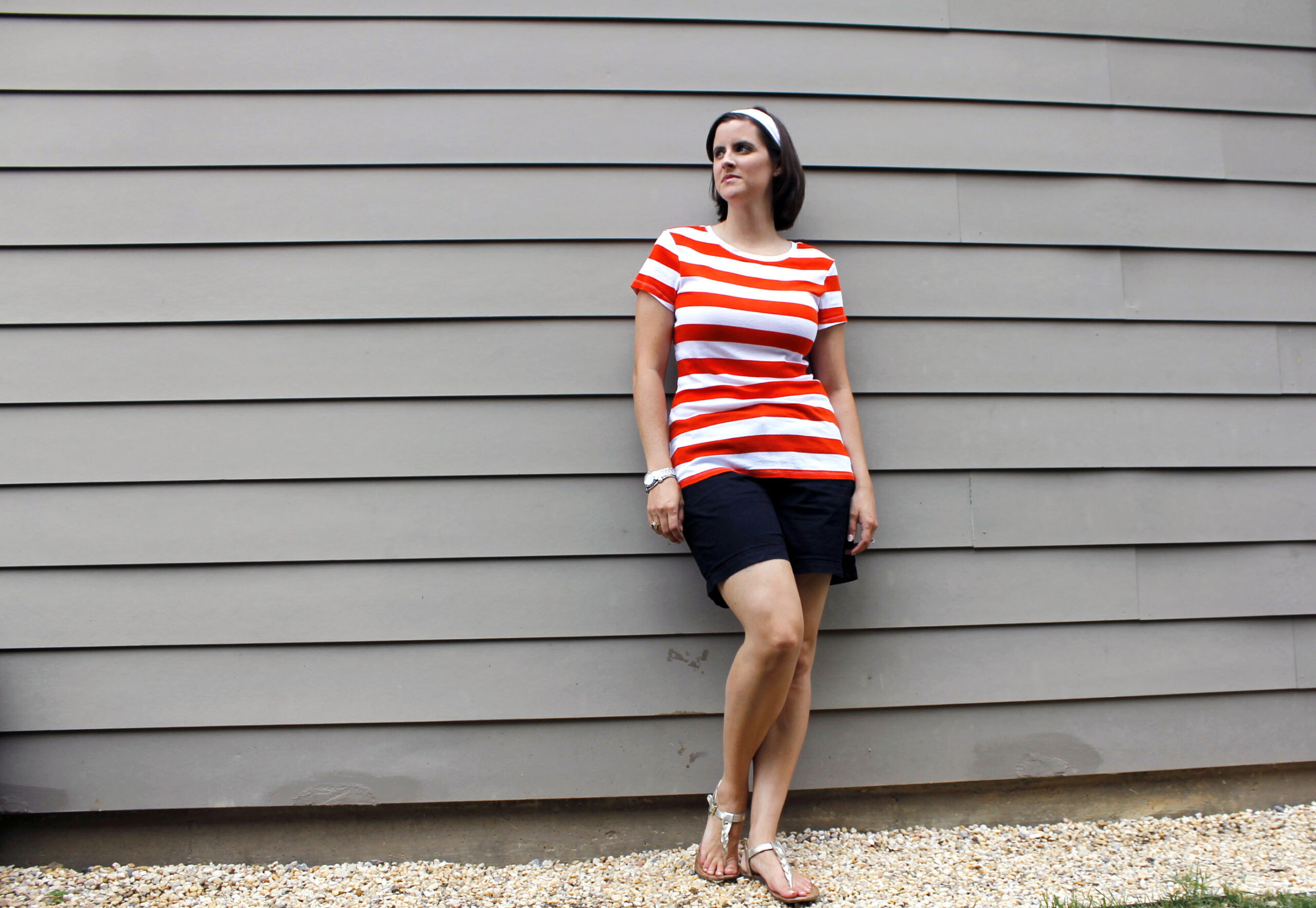 Woman dressed in Nemo Disneybound outfit
