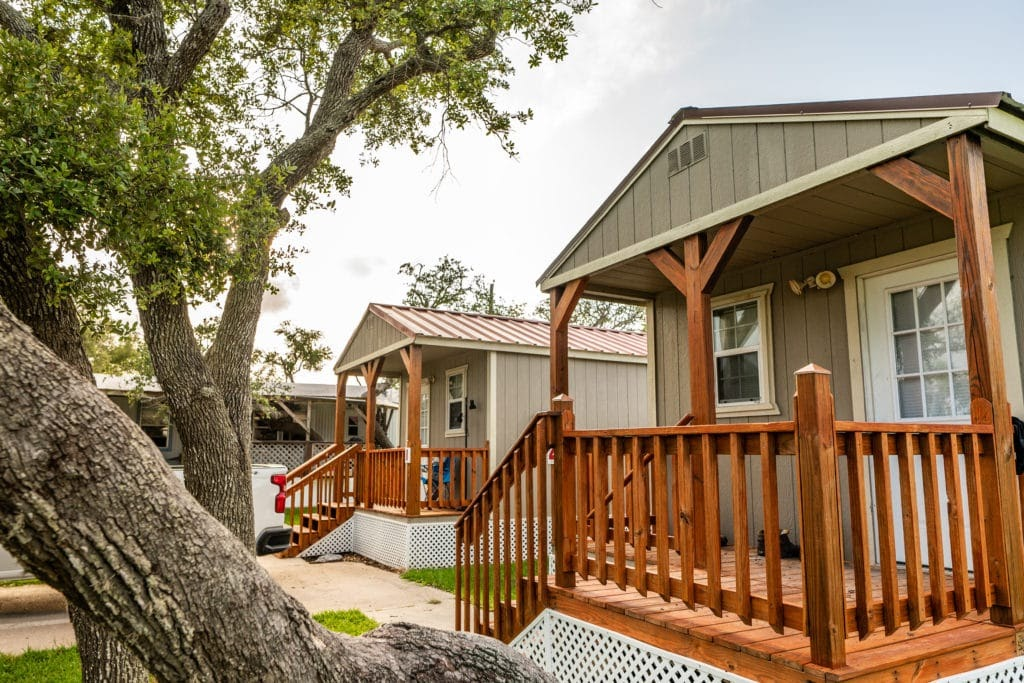 glamping in tx - Glamp in a cabin rental at Circle W RV Ranch in Rockport, TX.