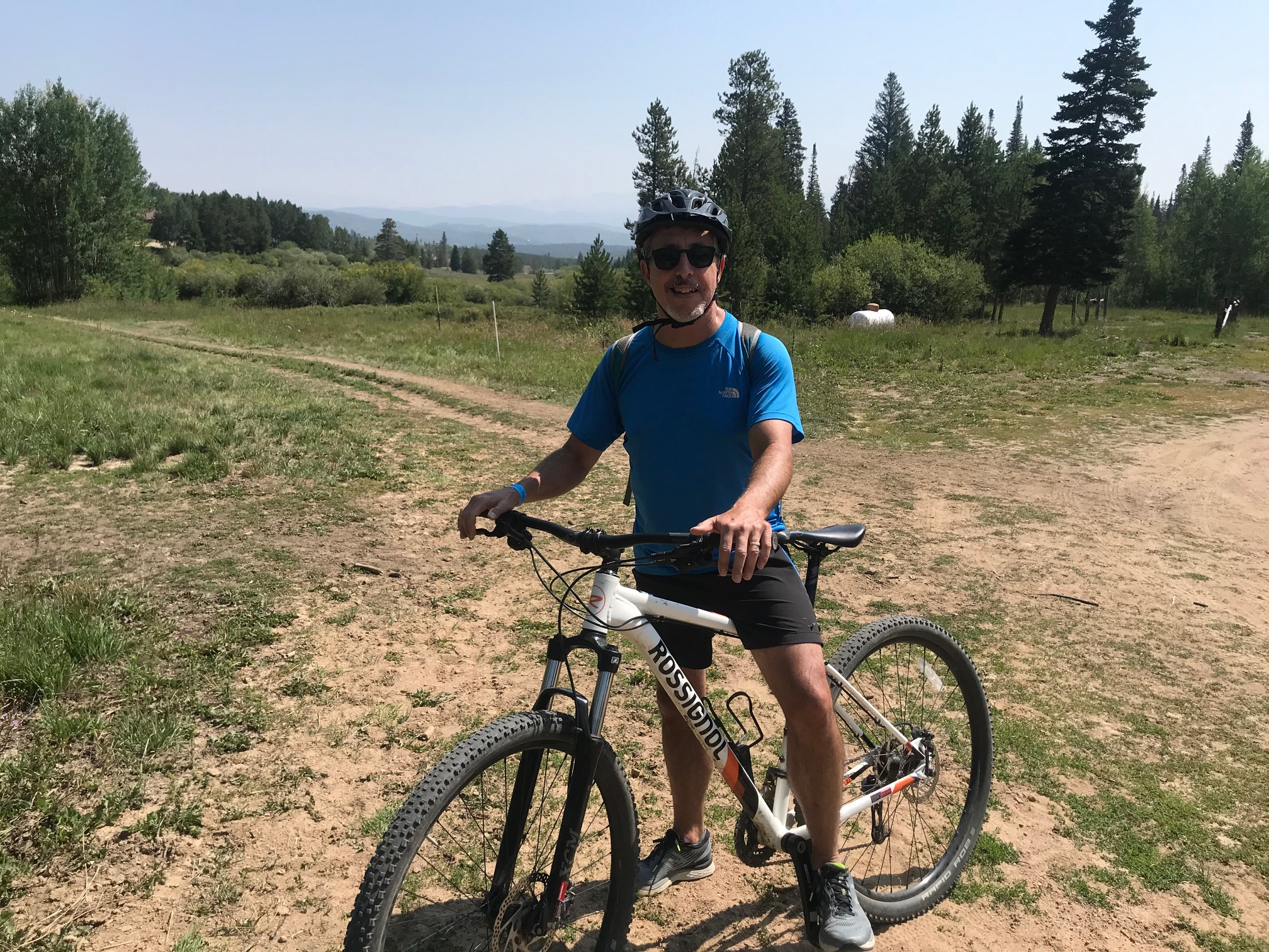 man on a mountain bike at Snow Mountain Ranch, YMCA of the Rockies