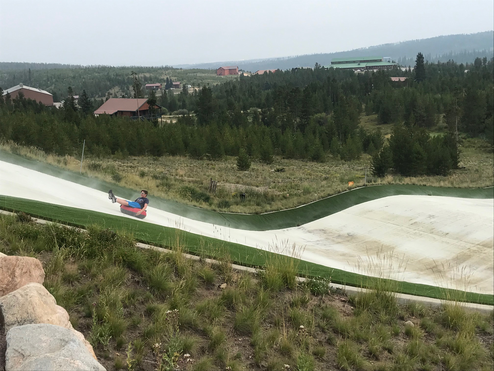 boy tubing at Snow Mountain Ranch, YMCA of the Rockies