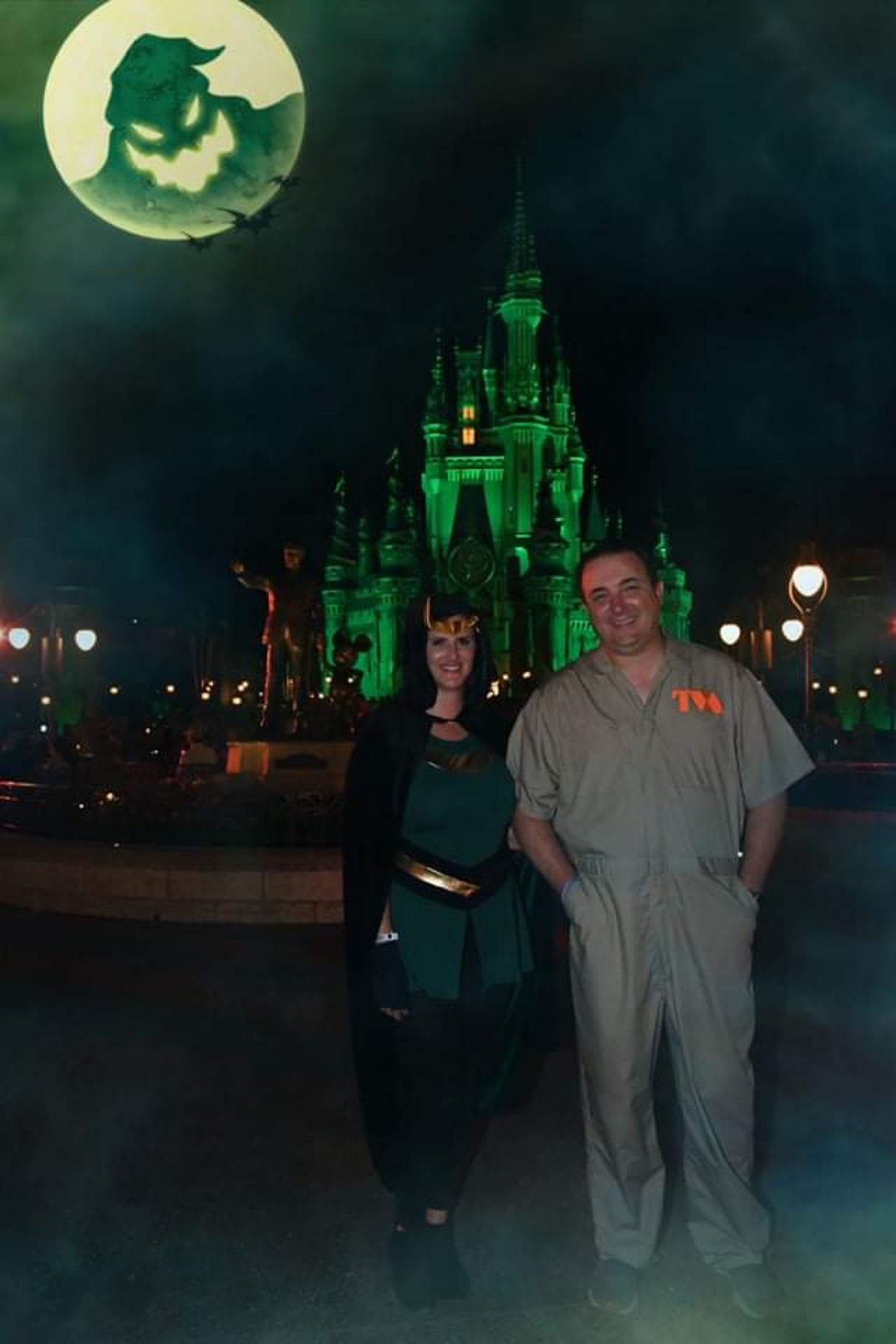 PhotoPass Magic Shot in front of Cinderella Castle