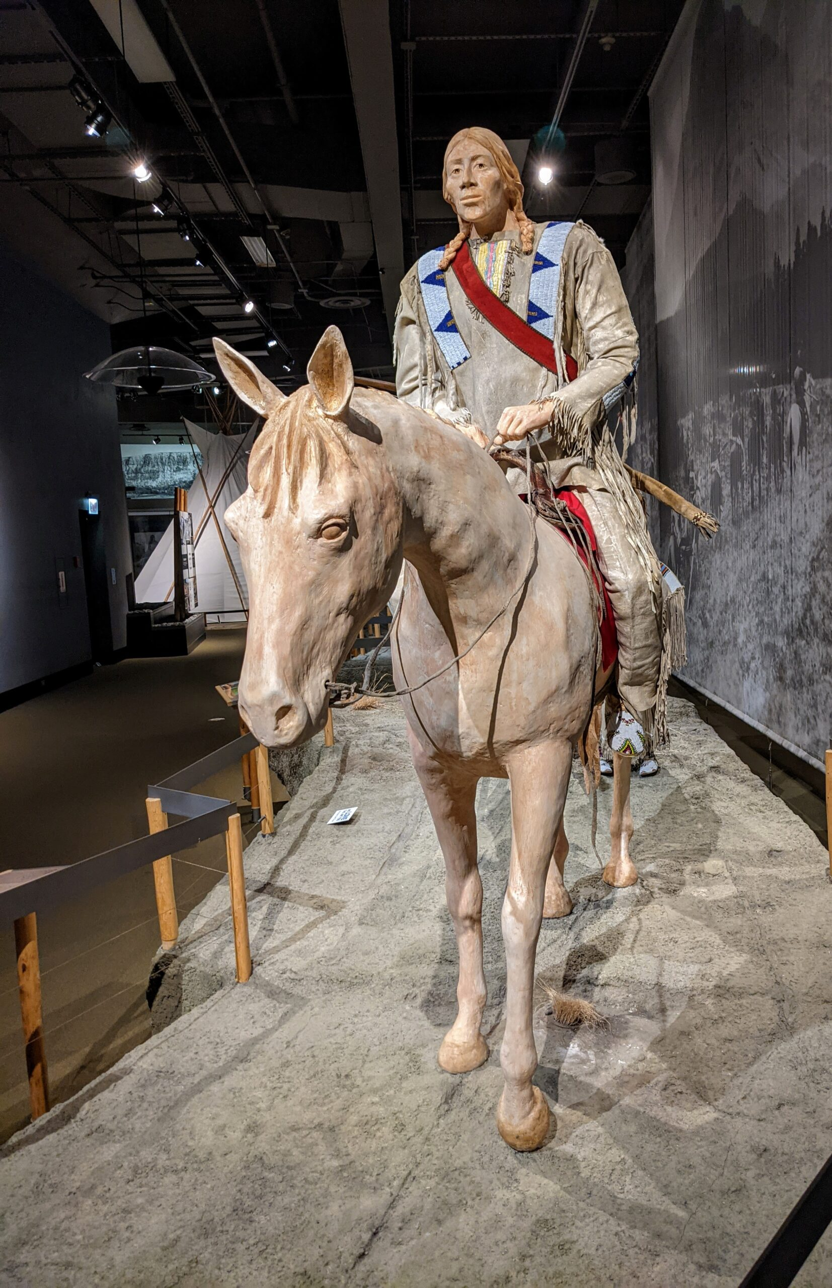 A model of a Plaines Indian in Cody Wyoming