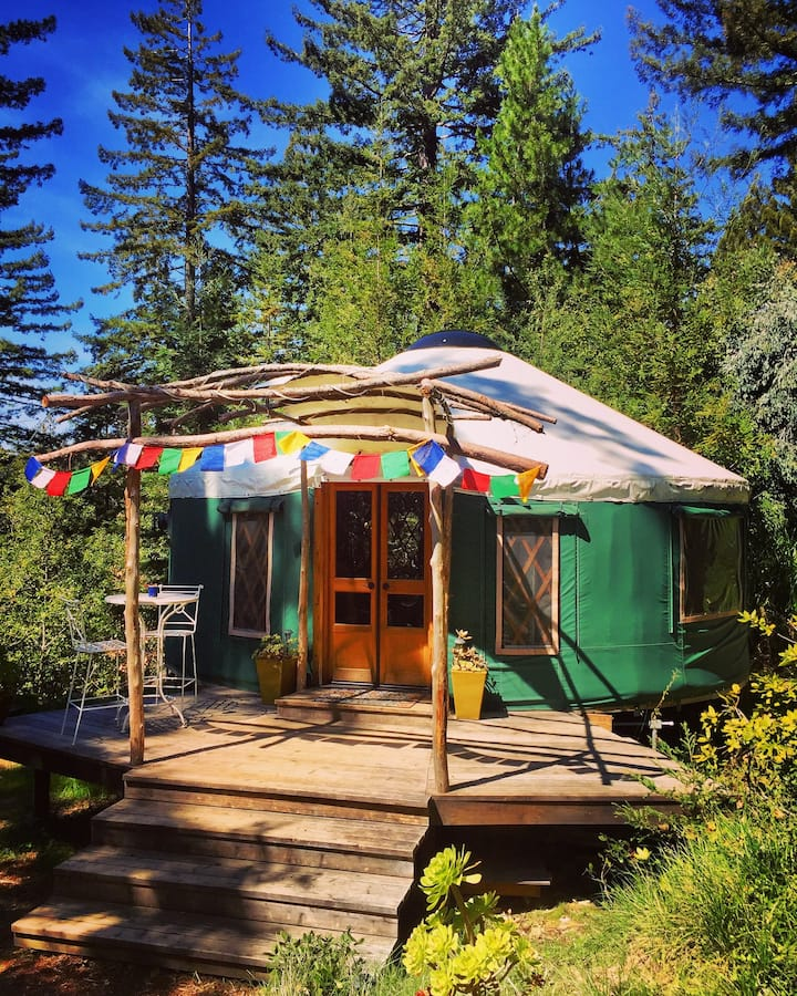A yurt near the Redwoods in California.