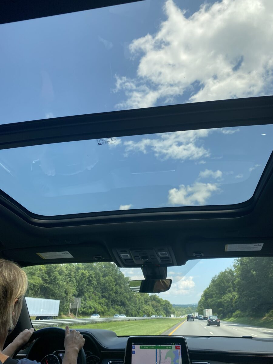 Chevy Tahoe High Sierra letting the sun shine in on a road trip to Maryland's Eastern Shore