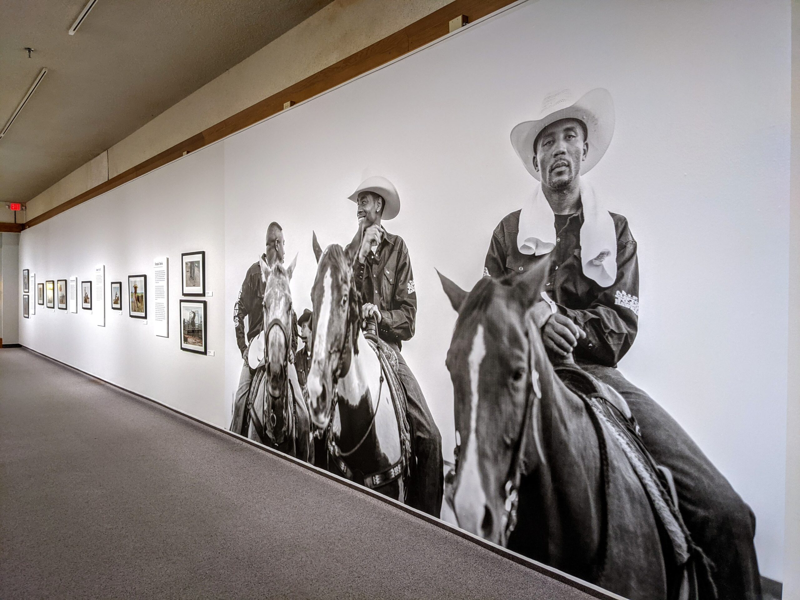 Black cowboy photograph exhibit at the Whitney Western Art Museum in Cody Wyoming