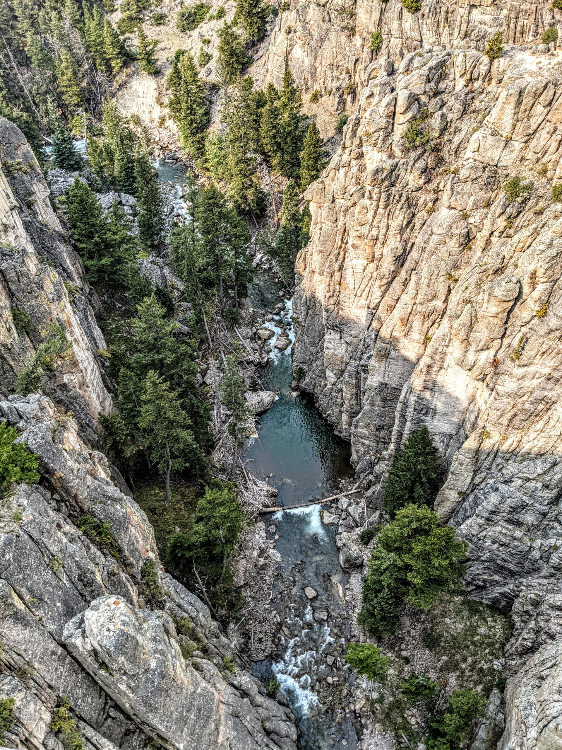 Clarks Fork Canyon along the Chief Joseph Scenic Byway outside Cody Wyoming.