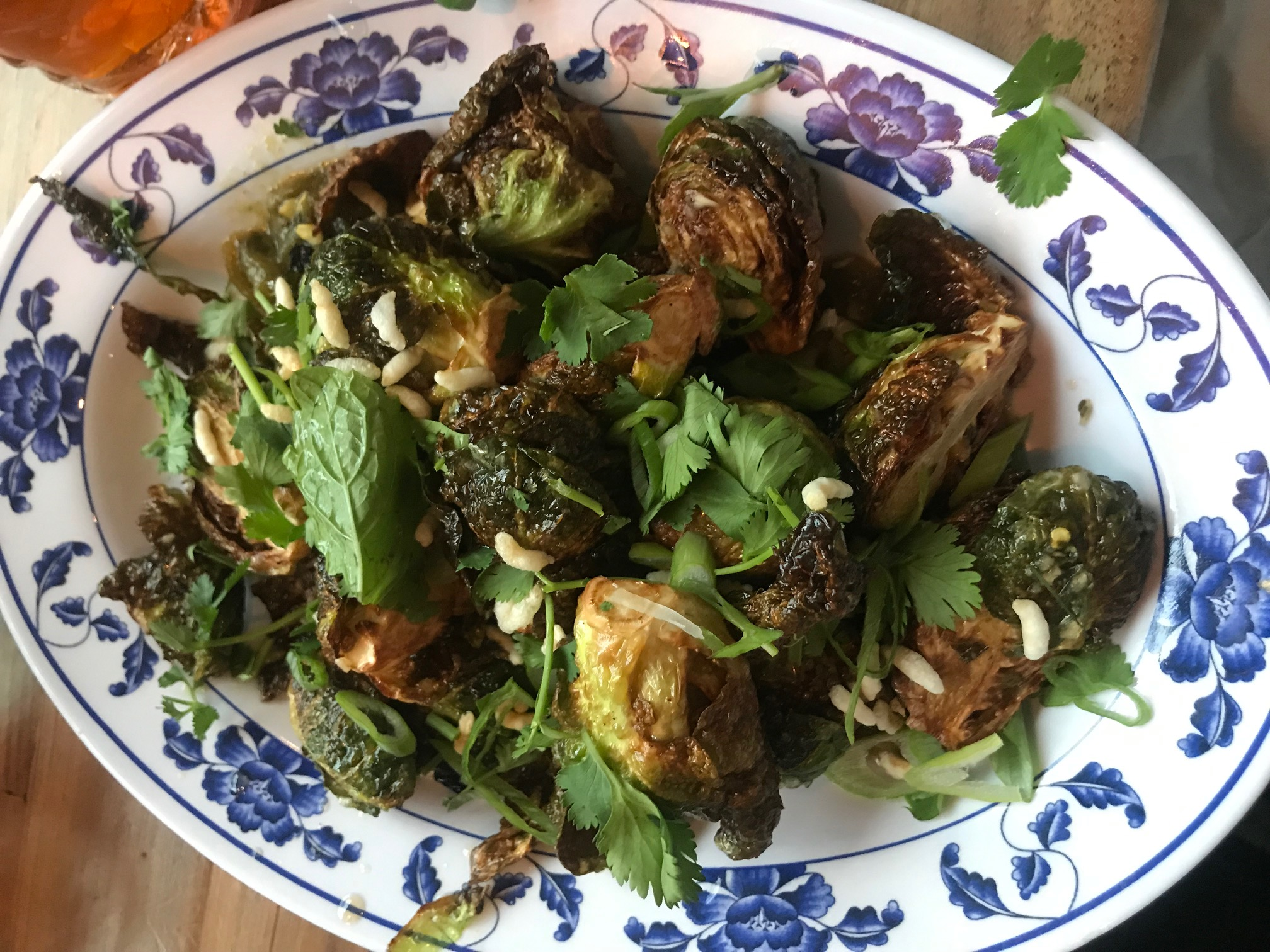 Plate of brussel sprouts