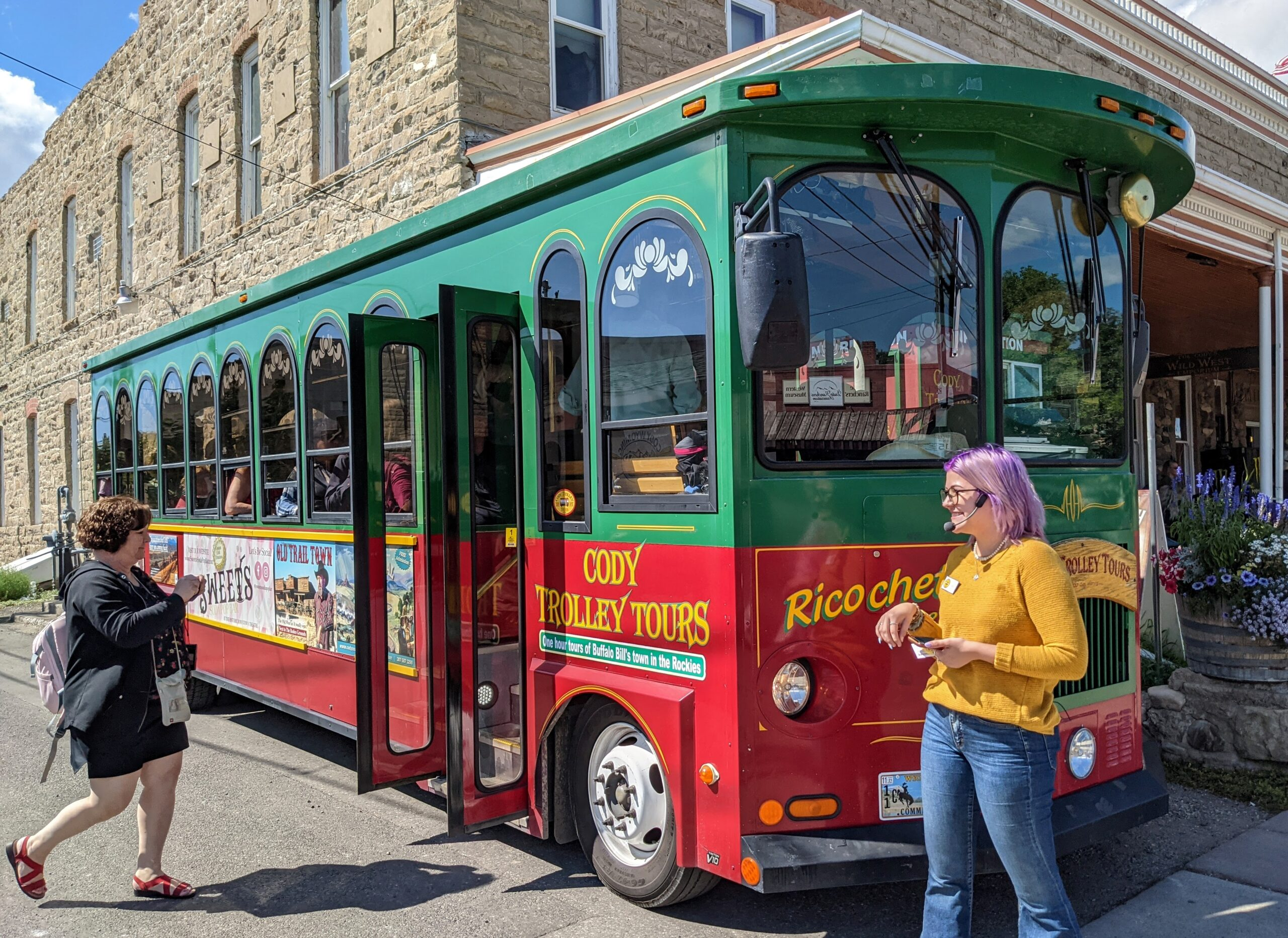 The Cody Trolley Tour is one of the best things to do in Cody Wyoming