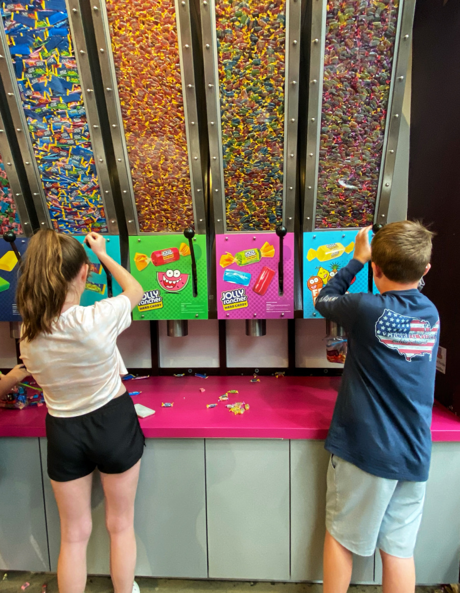 Candy Wall at Hershey's Chocolate World