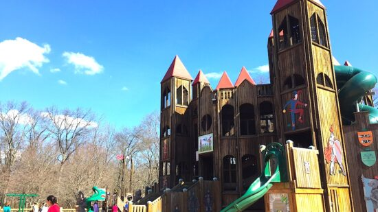 Fun spots for kids in Bucks County, Pennsylvania are this playground, children's museums, and the riverfront.