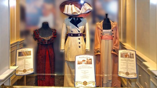 Titanic movie costumes worn by Kate Winslet and Leonardo DiCaprio to be on display at the Titanic Museum Attraction summer 2017.