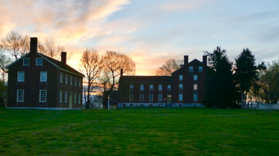 Learn more about the historic Shaker Village of Pleasant Hill just past Lexington, Kentucky. Research TravelingMom shares why you should make a trip!