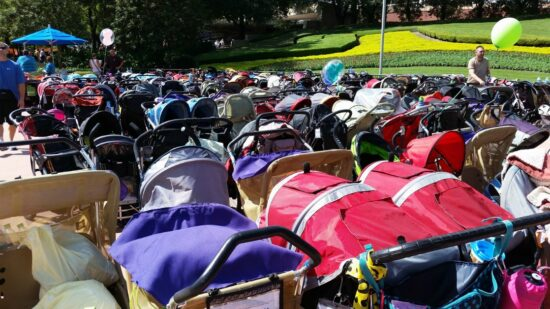 DIY Ways to make your strollers at Disney World easy to find in the stroller parking lots
