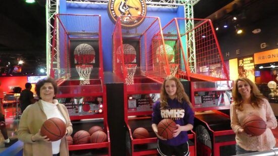 All ages can shoot hoops at College Basketball Experience in Kansas City.