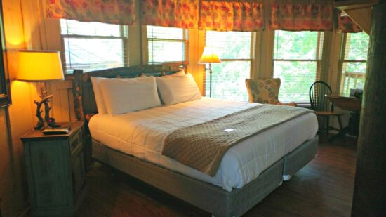 Think you need to rough it to sleep in a tree house? Think again! The tree house rooms at Historic Banning Mills in West Georgia are comfy and full of amenities.