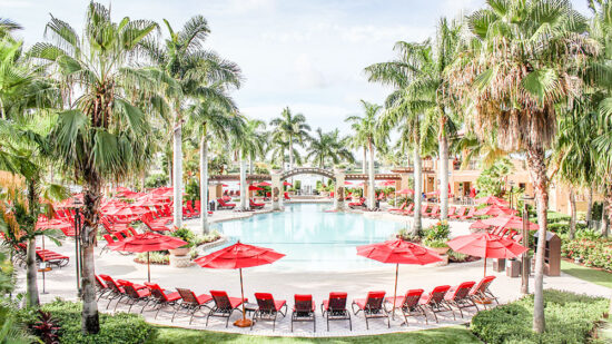 The pool at the PGA National Resort and Spa is family friendly while also being relaxing.