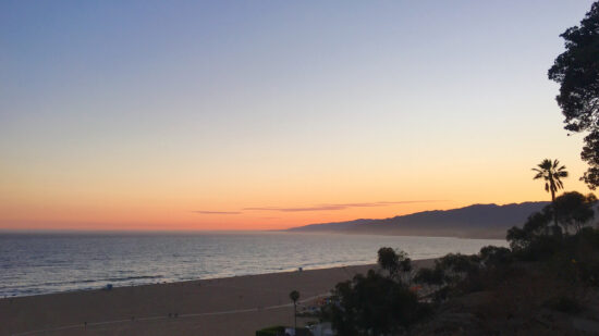 Walk on the beach during your 3 day itinerary for Los Angeles.