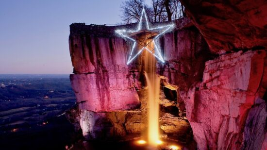 Empty nest survival tips can include travel. Holiday lights at Lookout Mountain and See Rock City soothe the soul.