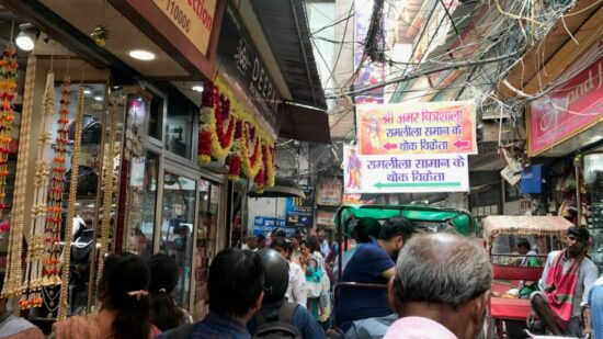 Taking kids to India can be an eye-opening experience especially on crowded streets in Delhi.