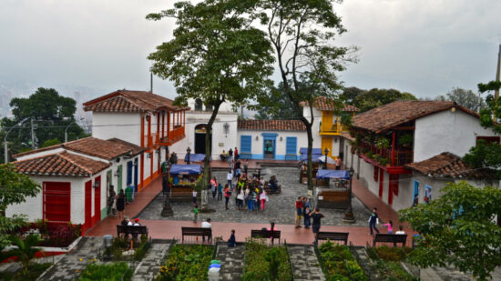 View of pueblito paisa in the center of Medellin