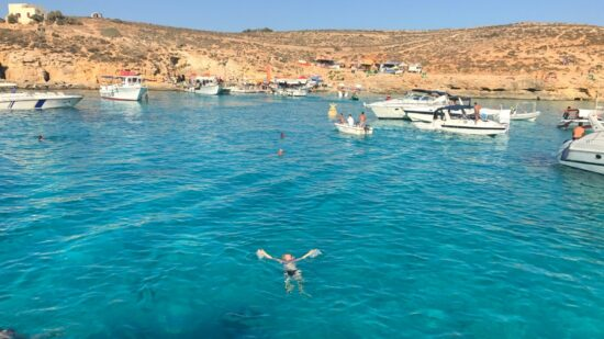 Hanging out in the Blue Lagoon is a fun thing to do in Malta.