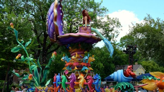 Ariel during Festival of Fantasy Parade in Magic Kingdom. It has to be our favorite parade at Walt Disney World!