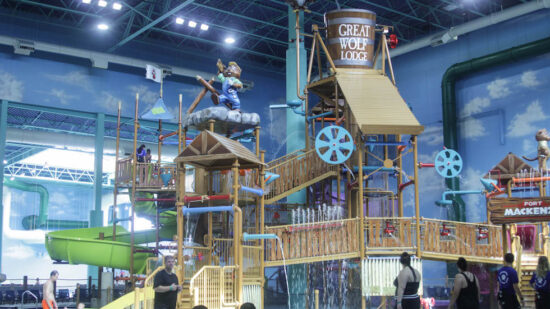 Waterpark activities at Great Wolf Lodge Gurnee.