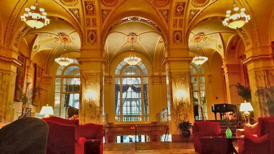 Drinks by the fire at the Hermitage Hotel is among things to do in Nashville for couples Photo credit: Sarah Ricks / World TravelingMom