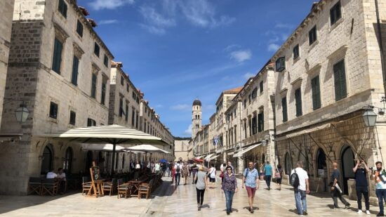 The medieval walled city of Dubrovnik, Croatia is a stunning filming location for Game of Thrones.