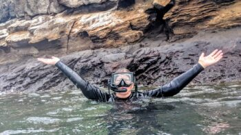 Snorkeling in the Galapagos Islands.