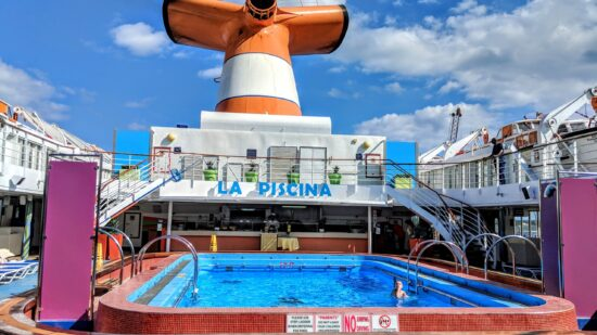 The Grand Celebration pool was a favorite on our family cruise to the Bahamas.