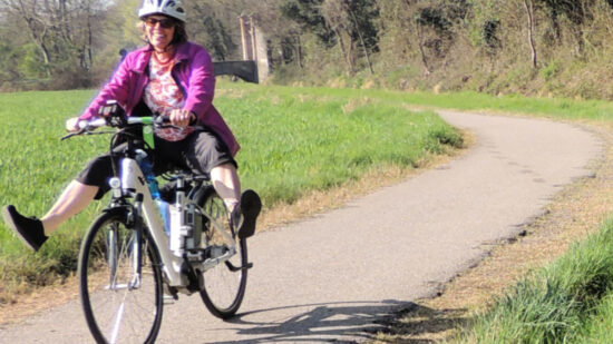 A carefree ride on the bike tour of Italy.