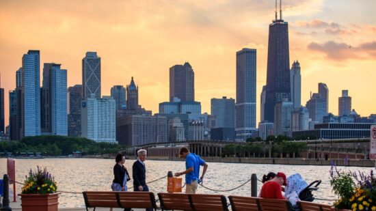 Navy Pier offers gorgeous views of the Chicago skyline. Photo courtesy of Choose Chicago.