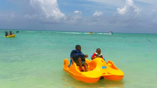 Paddle wheeling rental is just one of the fun options to do on Princess Cays. Photo Credit: Kendra Pierson, LongWeekend TravelingMom