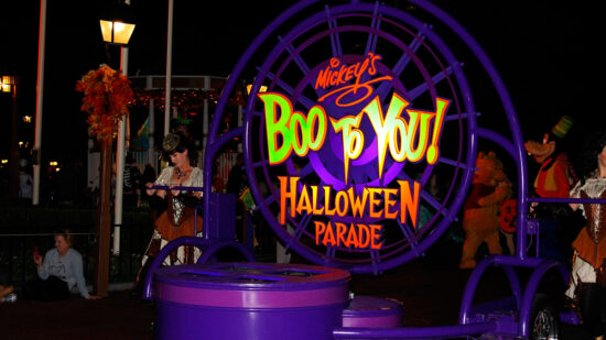 Enjoy the special parade Boo to You at Mickey's Not So Scary Halloween Party!