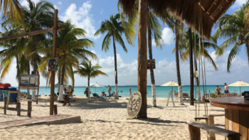 Ocean view at Playa Norte, one of the best beaches in Mexico