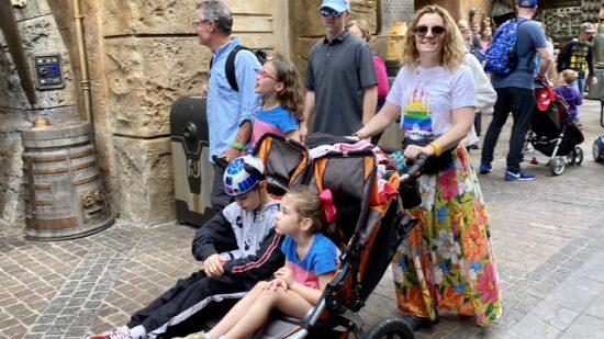 Disney World Disability Pass - with kids in stroller.