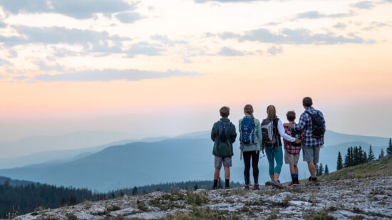 Taking in the Vail Colorado summer views from a hike