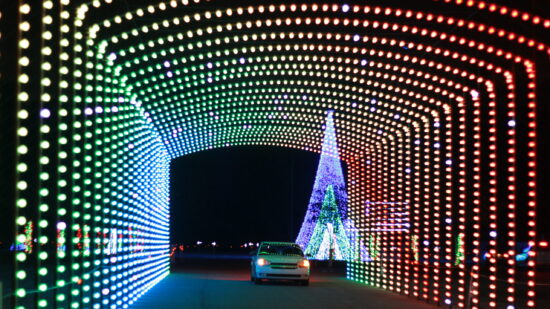 Drive through Christmas lights in Indianapolis.