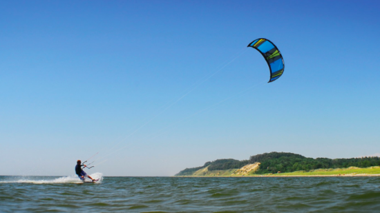 Kitesurfing is one of the free things to do in Muskegon