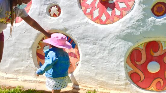 Pasaquan visionary art intrigues little children too.