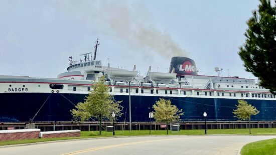 The SS Badger is a carferry across Lake Michigan.