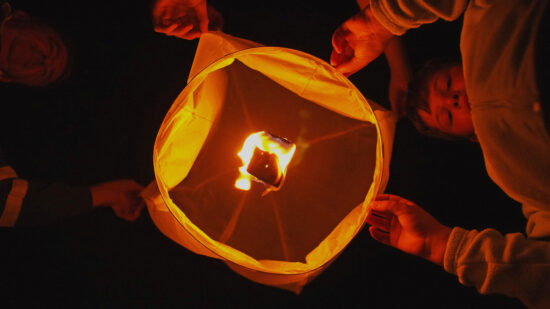Paper Lanterns for outdoor New Years Eve fun